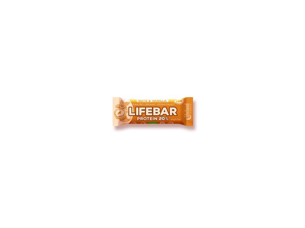 LIFEBAR PROTEIN BIO RAW vanilla nuts 47 g LIFEFOOD