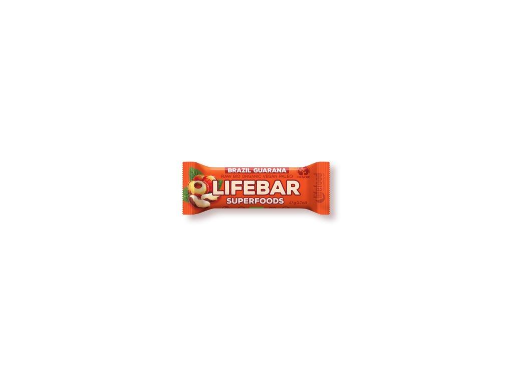 LIFEBAR Superfoods BIO RAW s guaranou 47 g LIFEFOOD