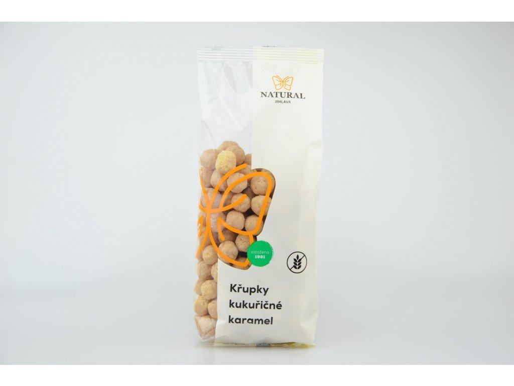 Křupky kukuřičné karamel NATURAL 140 g
