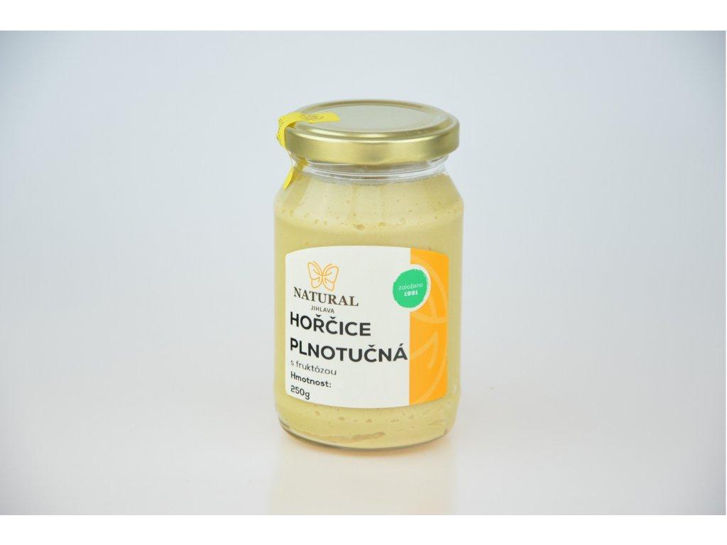 Hořčice plnotučná s fruktózou NATURAL 250 g