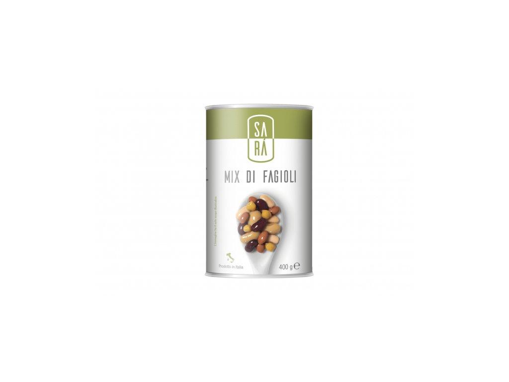 Mix fazolí s cizrnou ve slaném nálevu SARÁ 400 g