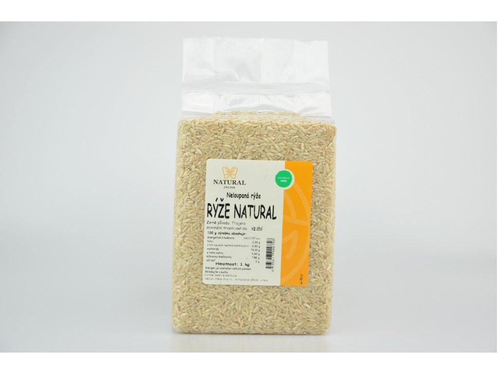 Rýže natural neloupaná NATURAL 1 kg