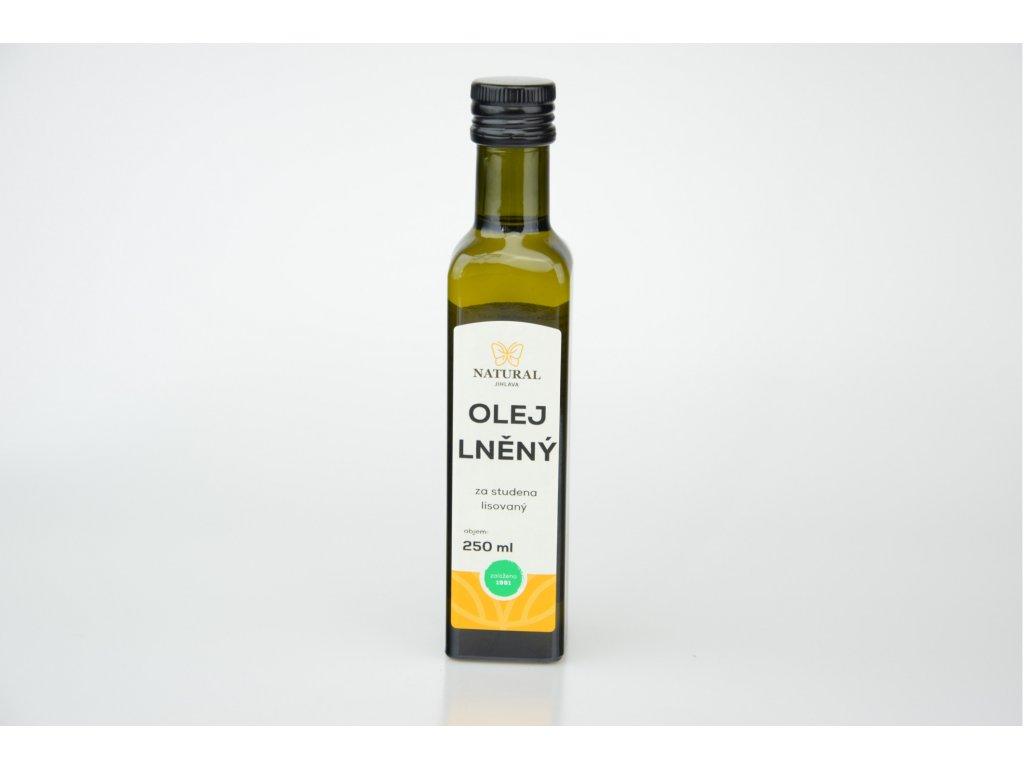 Olej lněný za studena lisovaný NATURAL 250 ml