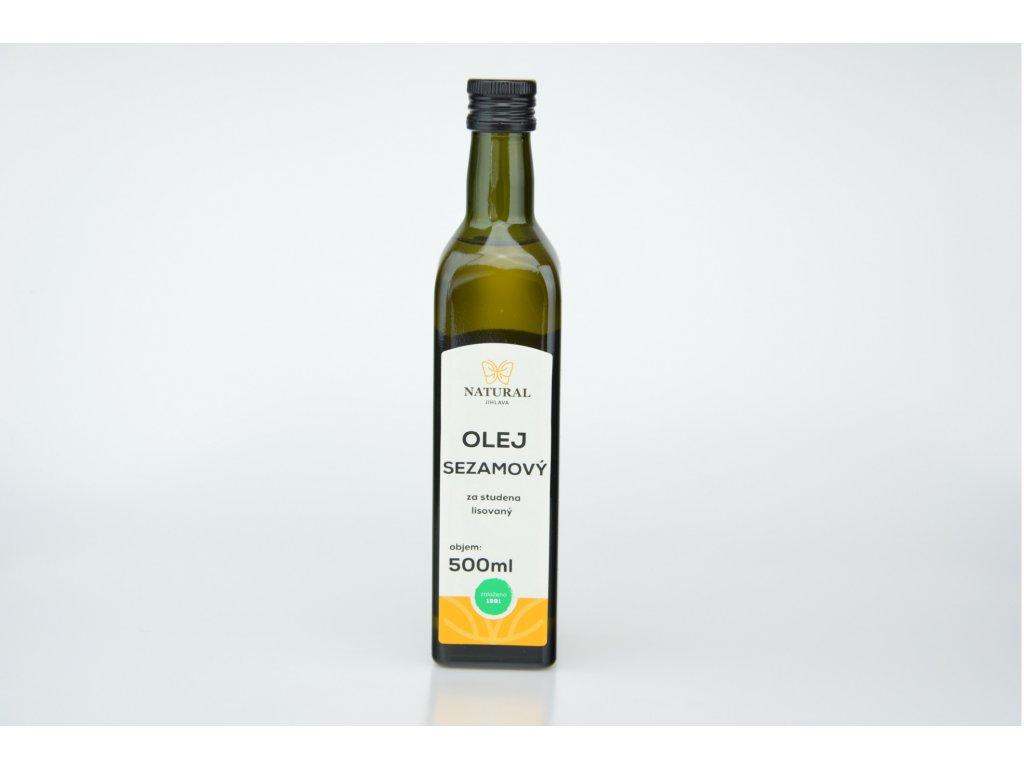 Olej sezamový za studena lisovaný NATURAL 500 ml