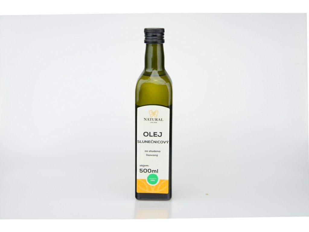Olej slunečnicový za studena lisovaný NATURAL 500 ml