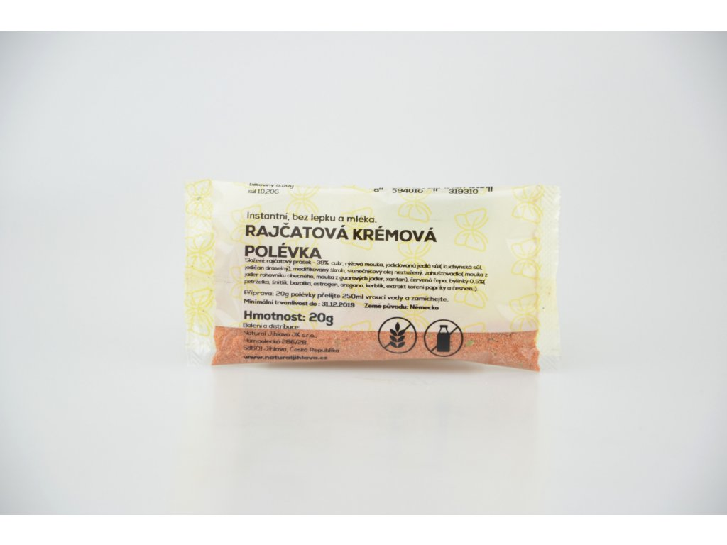 Instantní bezlepková krémová polévka rajčatová NATURAL 20 g