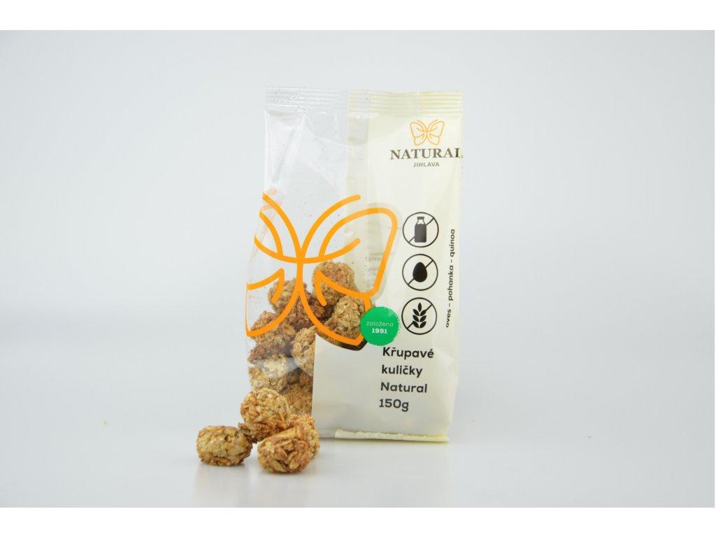 Křupavé kuličky Natural bez lepku, mléka a vajec NATURAL 150 g