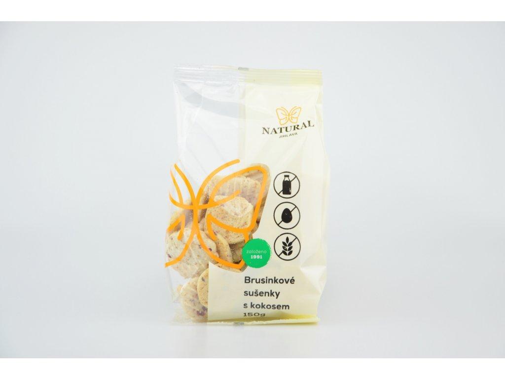 Brusinkové sušenky bezlepkové NATURAL 150 g
