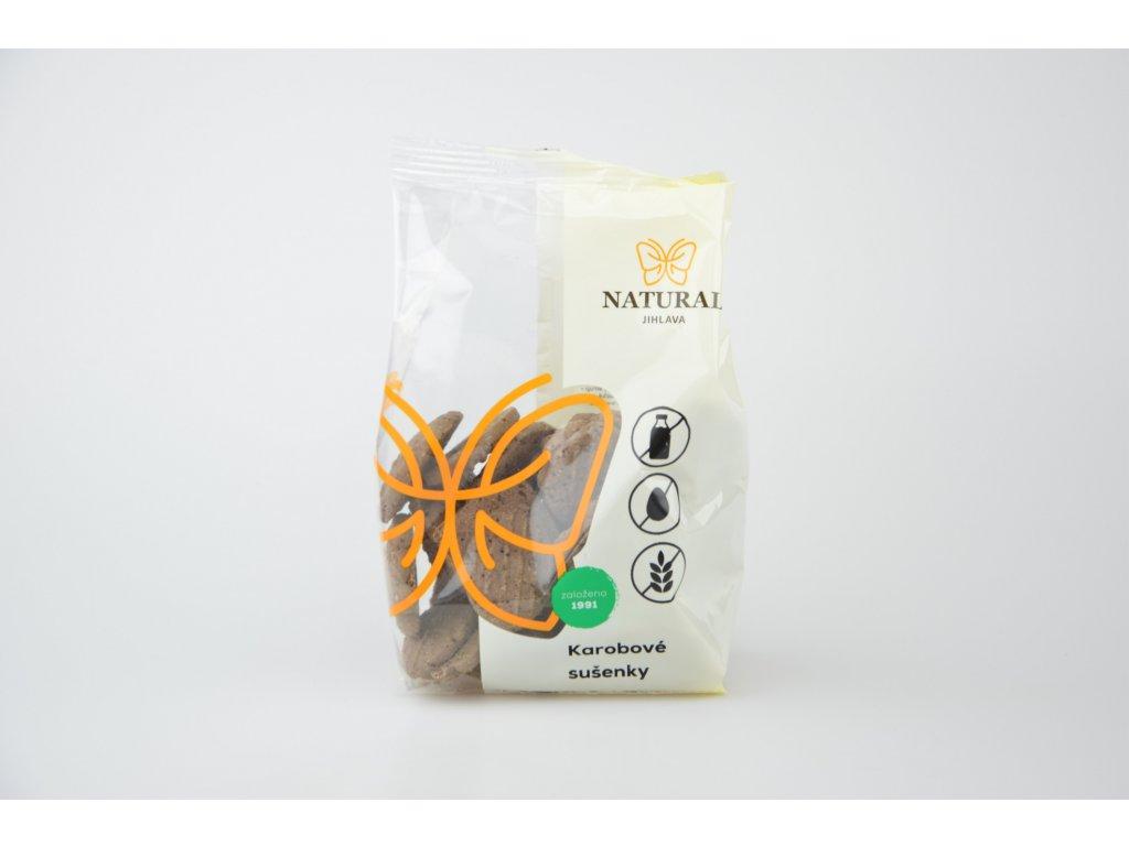 Karobové bezlepkové sušenky NATURAL 150 g