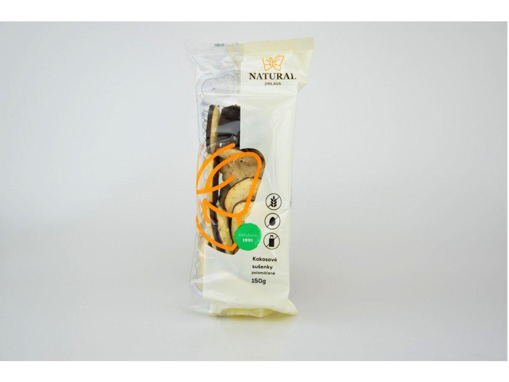 Kokosové sušenky polomáčené NATURAL 150 g