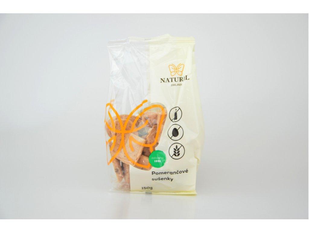 Pomerančové bezlepkové sušenky s datlovým sirupem NATURAL 150 g