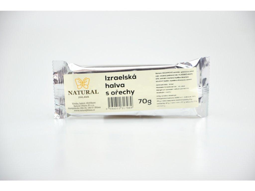 Chalva Izrael s ořechy NATURAL 70 g