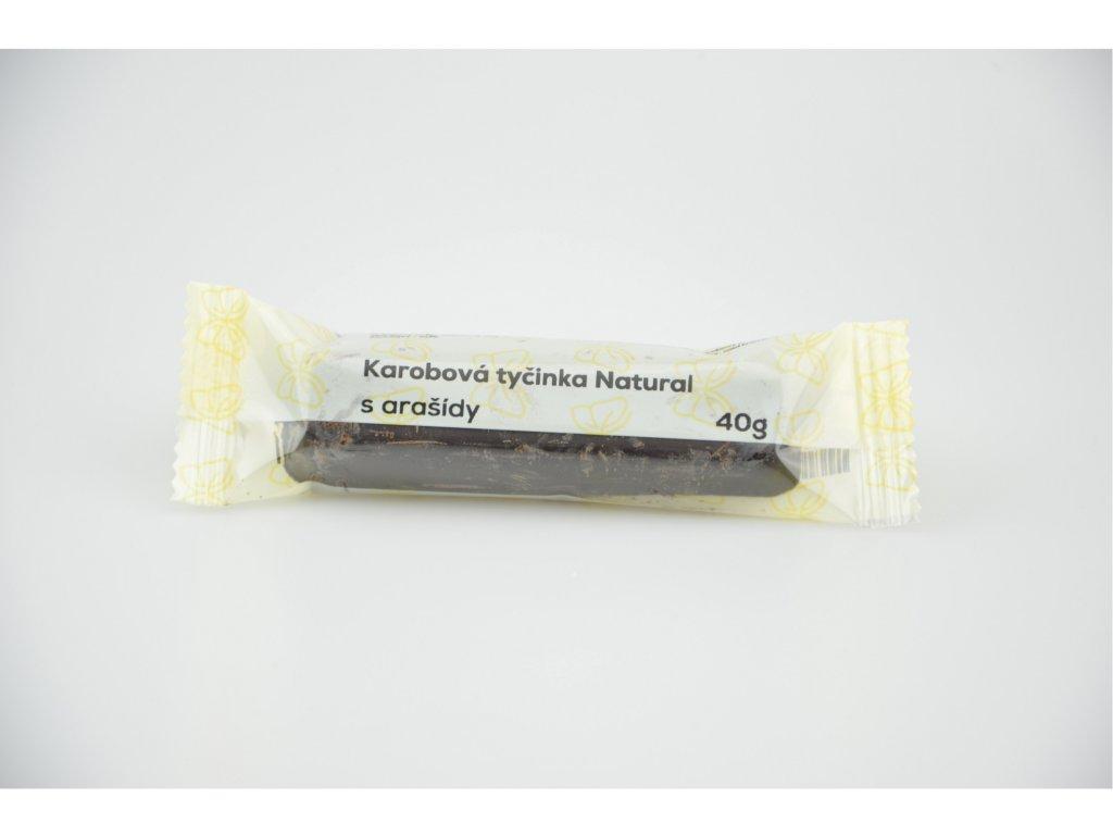 Karobová tyčinka s arašidy NATURAL 40 g