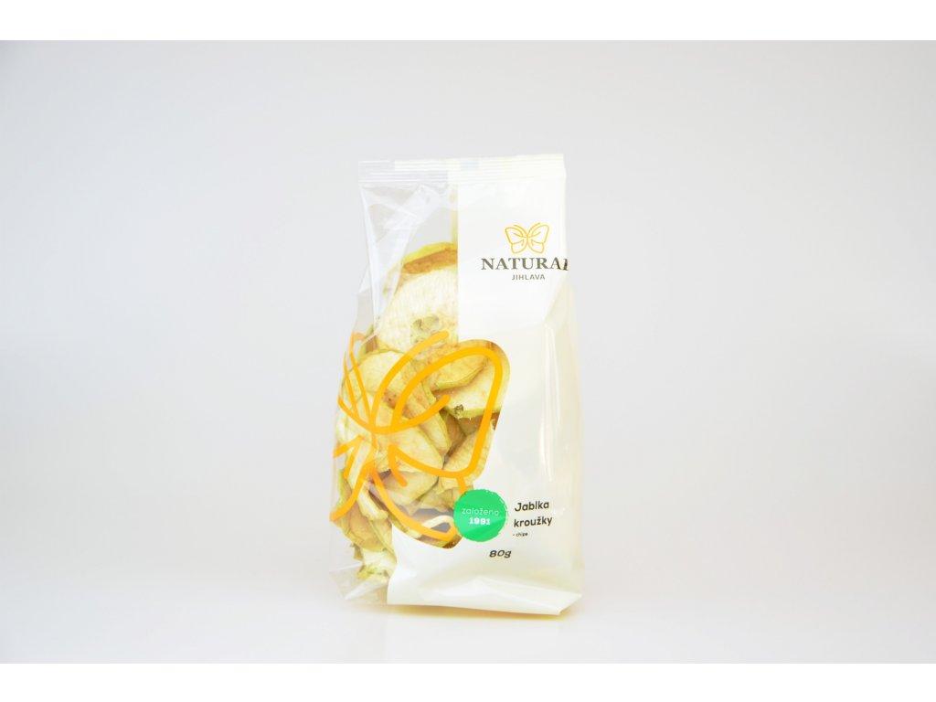 Jablka kroužky chips NATURAL 80 g