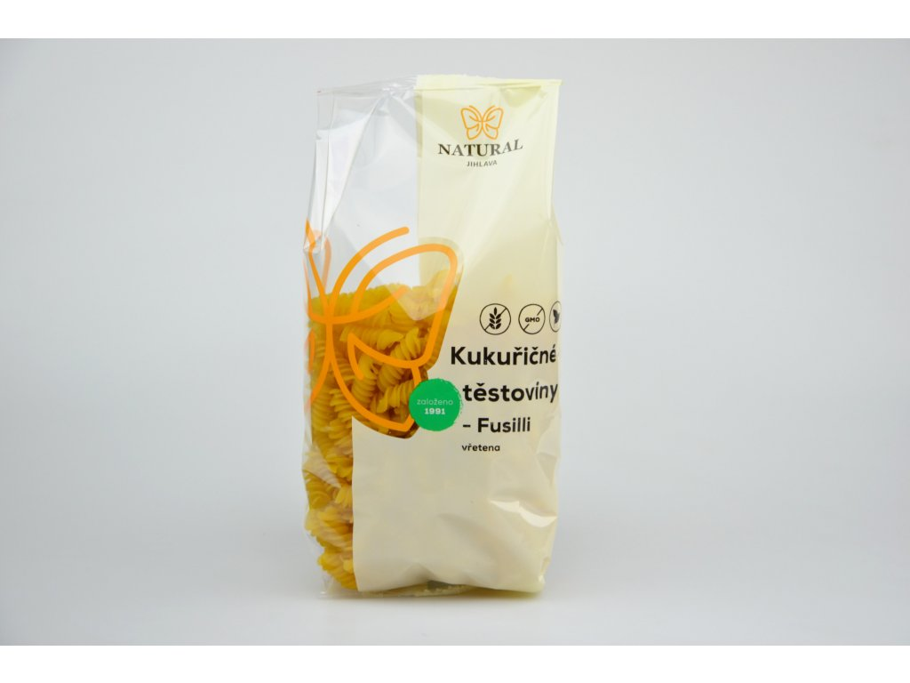 Kukuřičné těstoviny Fusilli (vřetena)  NATURAL 300 g