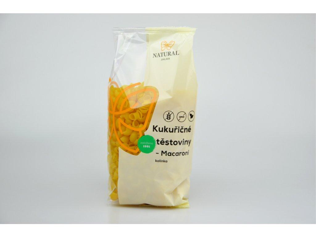 Kukuřičné těstoviny macaroni NATURAL 300 g