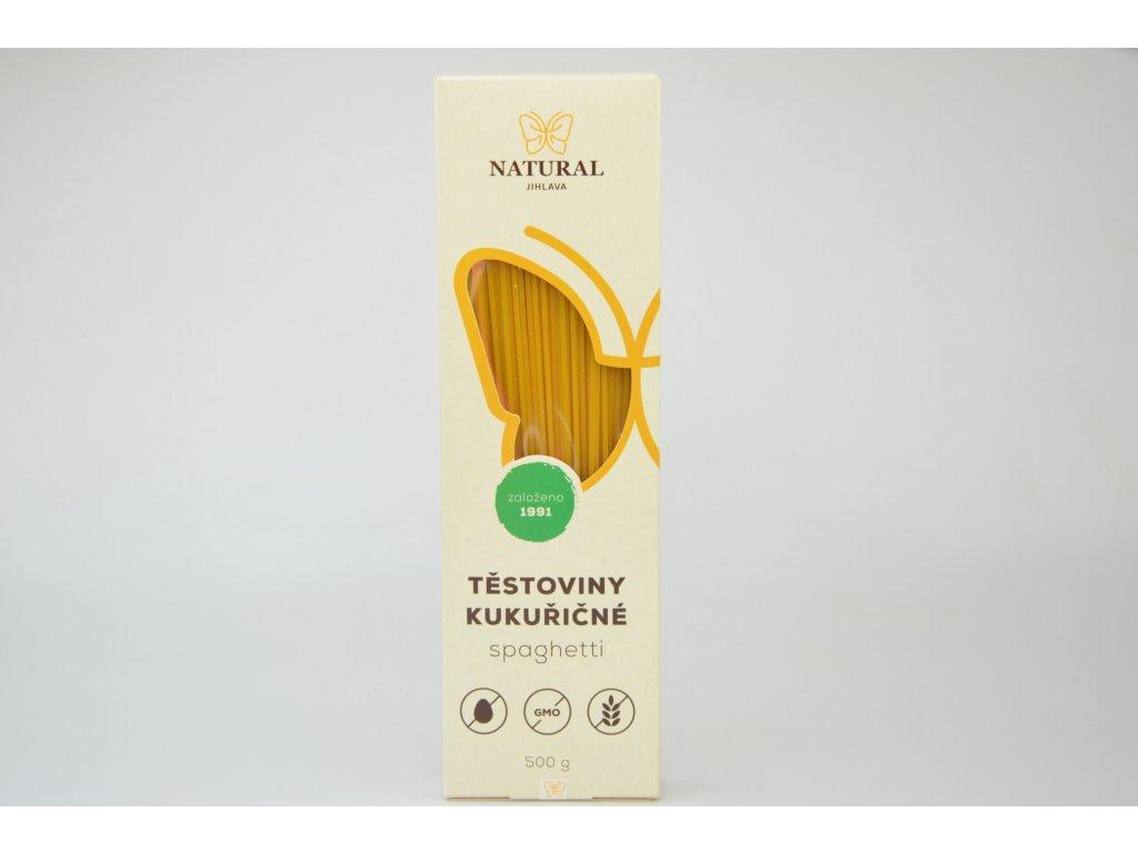 Kukuřičné těstoviny spaghetti bez lepku NATURAL 500 g
