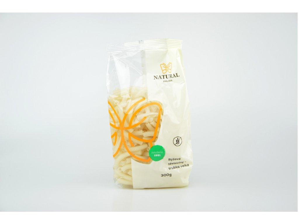 Rýžové těstoviny bez lepku trubka velká NATURAL 300 g