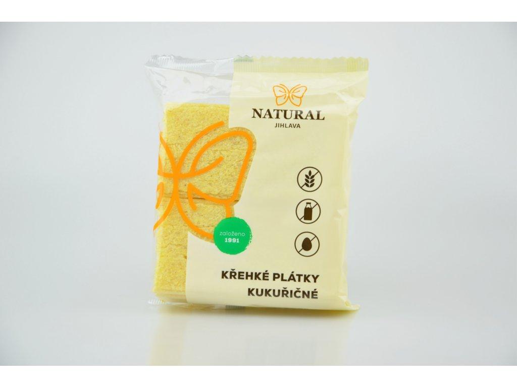 Křehké plátky kukuřičné NATURAL 75 g