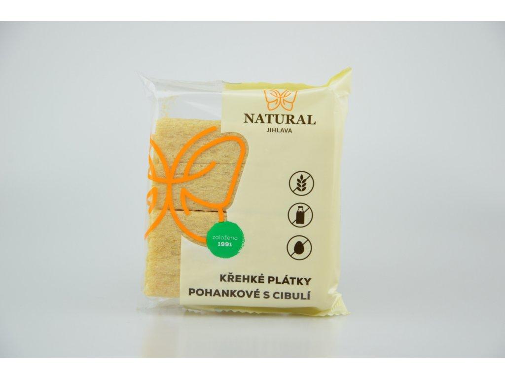 Křehké plátky pohankové s cibulí NATURAL 75 g