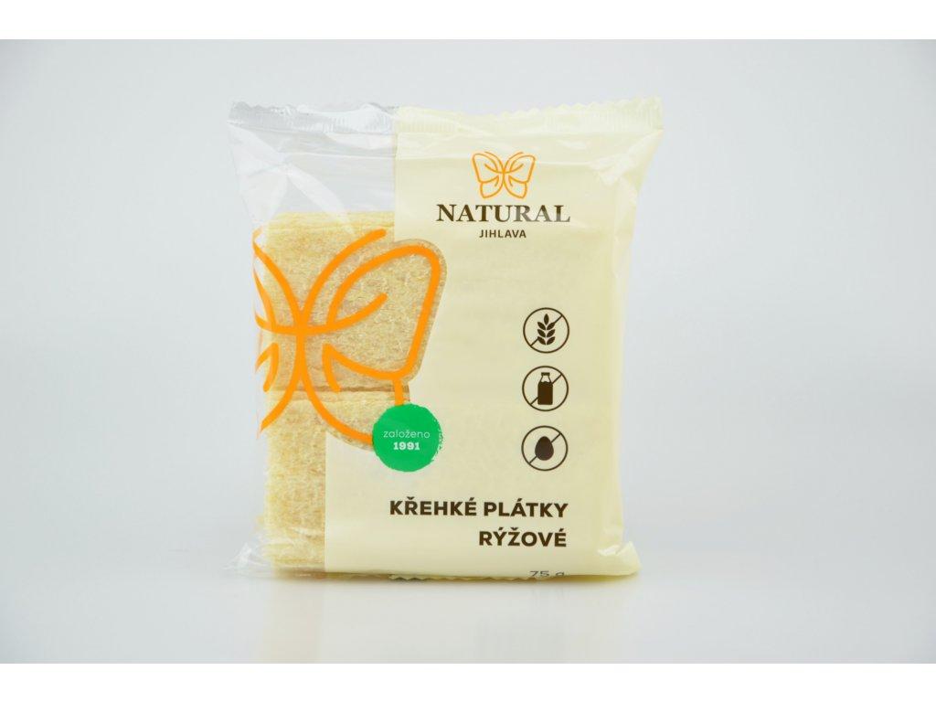 Křehké plátky rýžové NATURAL 75 g