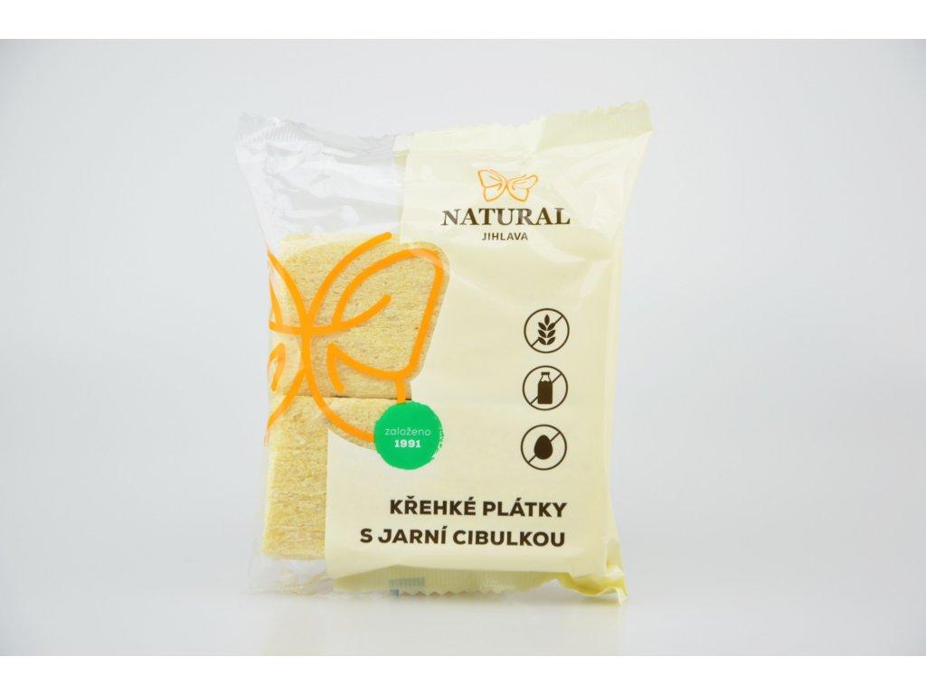 Křehké plátky s jarní zeleninou NATURAL 75 g