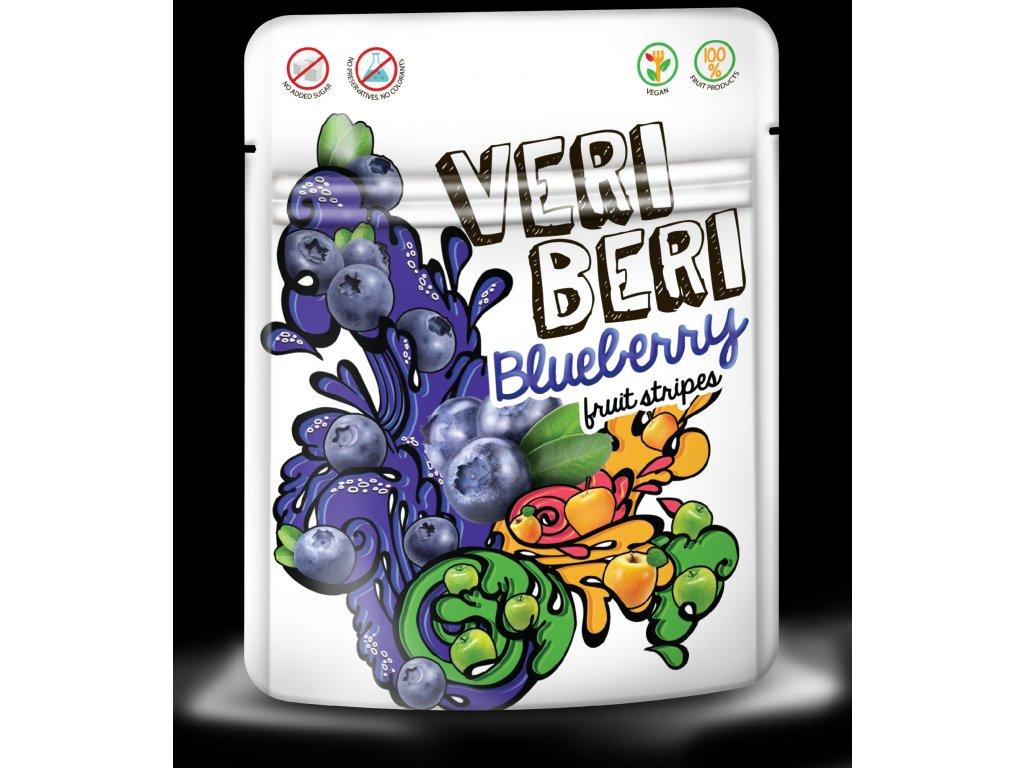 Ovocné stripsy borůvka Veri Beri 50 g