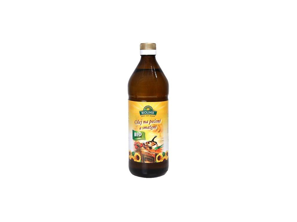 Olej slunečnicový na pečení a smažení BIOLINIE BIO 750 ml
