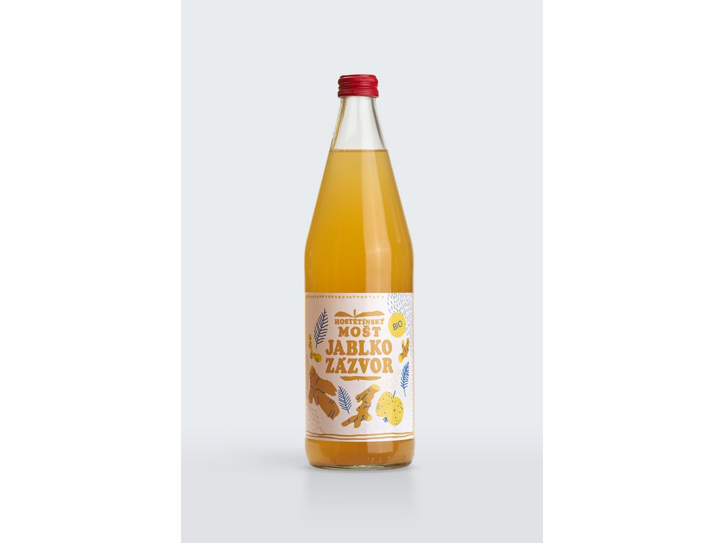 Mošt jablečný zázvor MOŠTÁRNA HOSTĚTÍN BIO 750 ml