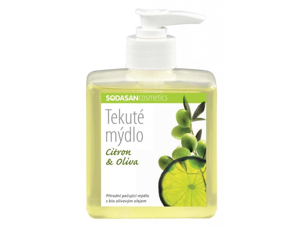 Mýdlo tekuté Citron – Oliva SODASAN 300 ml