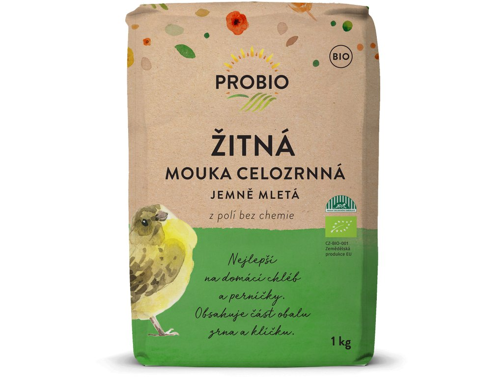 Mouka žitná celozrnná jemně mletá PROBIO BIO 1 kg