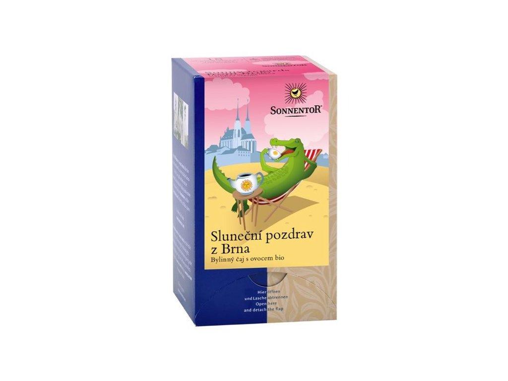 Sluneční pozdrav z Brna BIO, ovocný čaj s bylinkami 18x2,5 g SONNENTOR