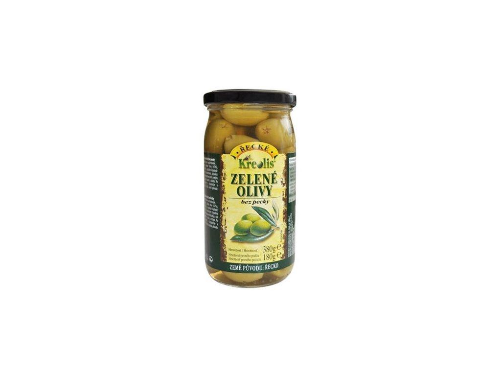 Olivy zelené Kreolis zelené bez pecky 230/130 g