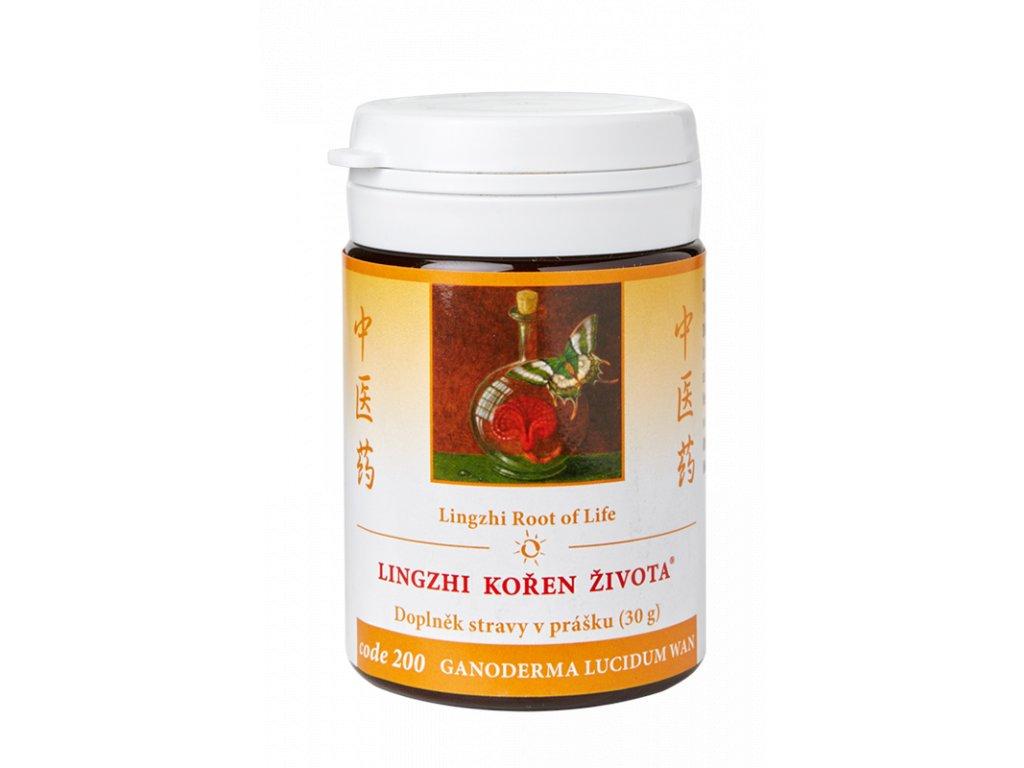 200 Lingzhi kořen života 30 g TCM Herbs