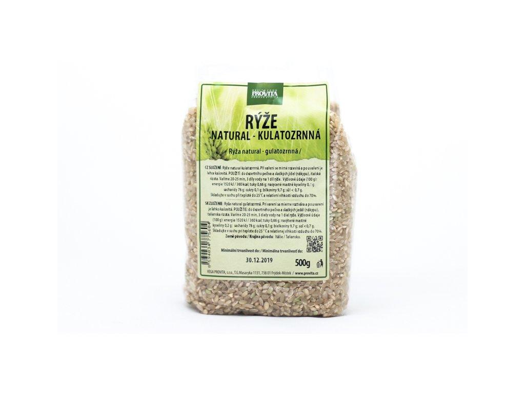 Rýže kulatozrnná natural 500 g PROVITA