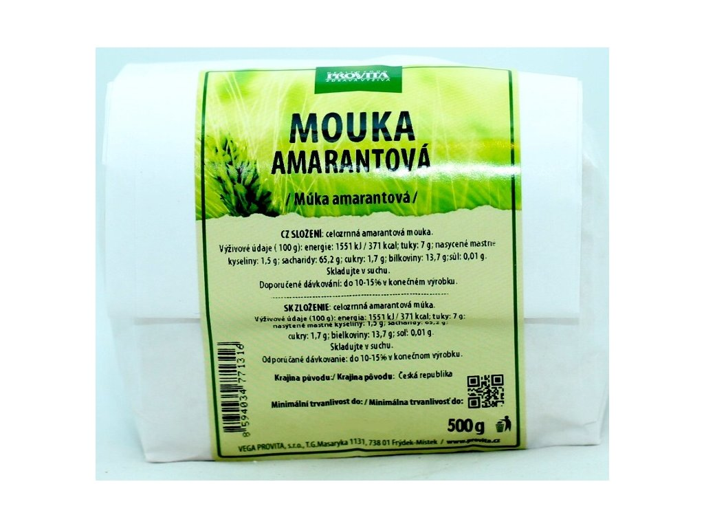 Mouka amarantová celozrnná 500 g PROVITA