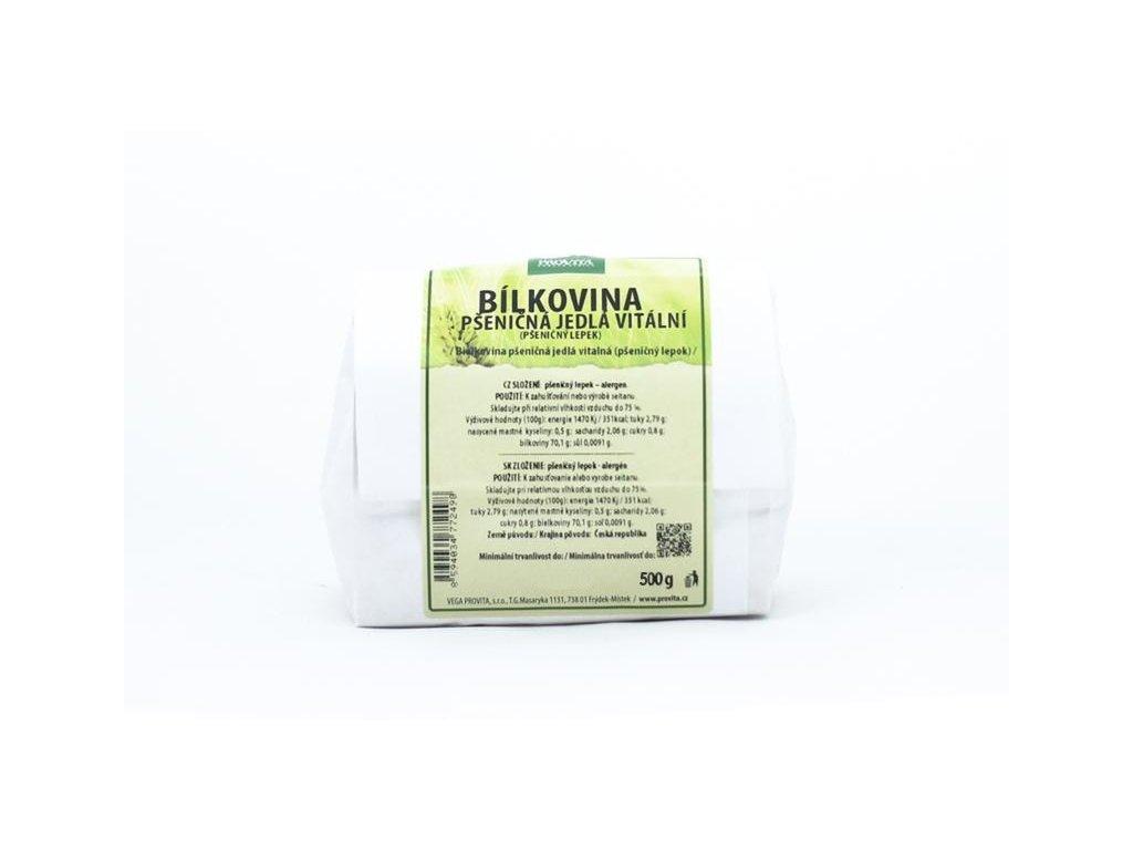 Bílkovina Gluten pšeničný lepek 500 g PROVITA