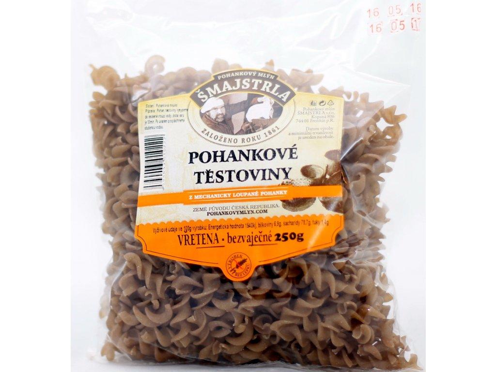 Těstoviny pohankové vřetena bezl. 250 g ŠMAJSTRLA