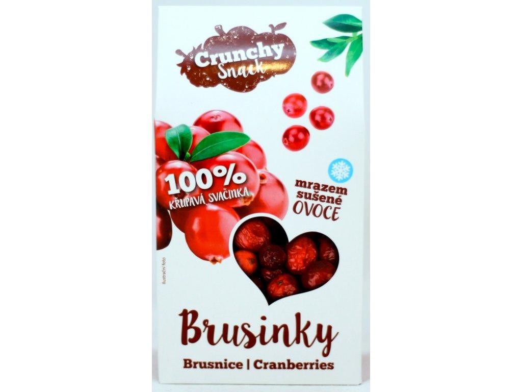 Ovoce lyofilizované brusinky 15 g CRUNCHY SNACK