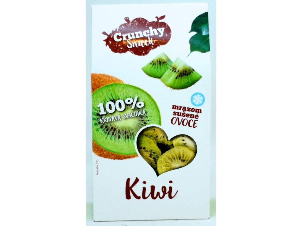 Ovoce lyofilizované kiwi plátky 20 g CRUNCHY SNACK