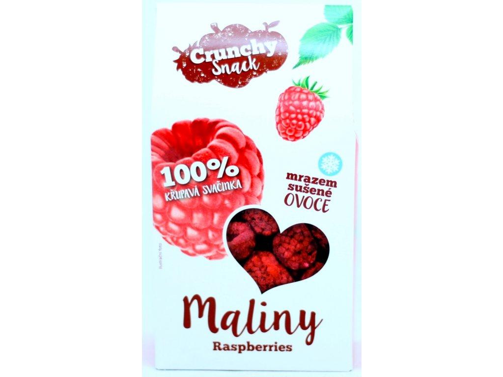 Ovoce lyofilizované maliny 20 g CRUNCHY SNACK