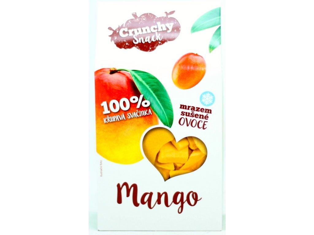 Ovoce lyofilizované mango plátky 20 g CRUNCHY SNACK