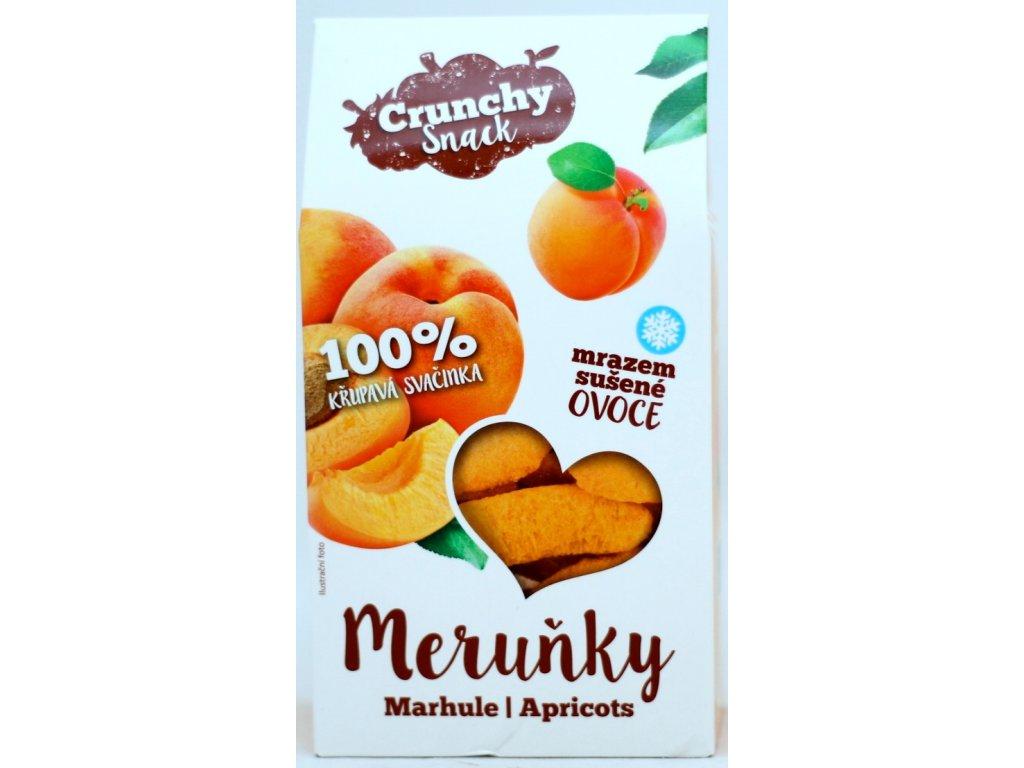 Ovoce lyofilizované meruňky plátky 15 g CRUNCHY SNACK