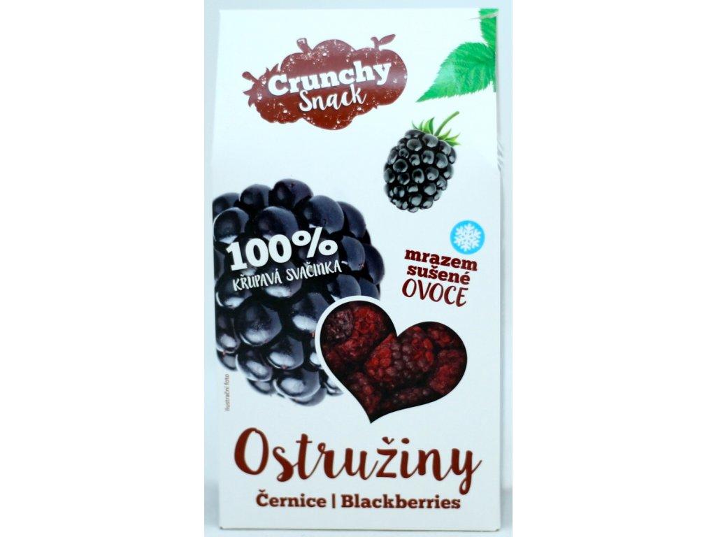 Ovoce lyofilizované ostružiny 20 g CRUNCHY SNACK
