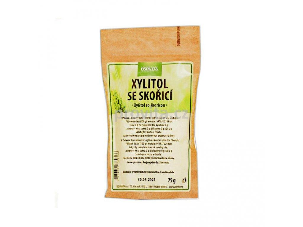 Xylitol březový cukr se skořicí Cejlon 75 g PROVITA