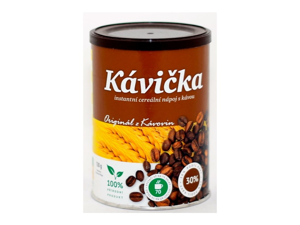 Kávička granulovaná 130 g dóza KÁVOVINY