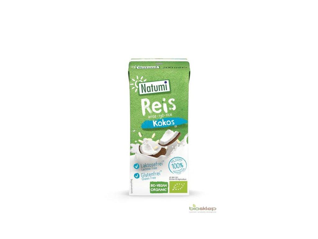 Nápoj rýžový s kokosem 200 ml BIO NATUMI