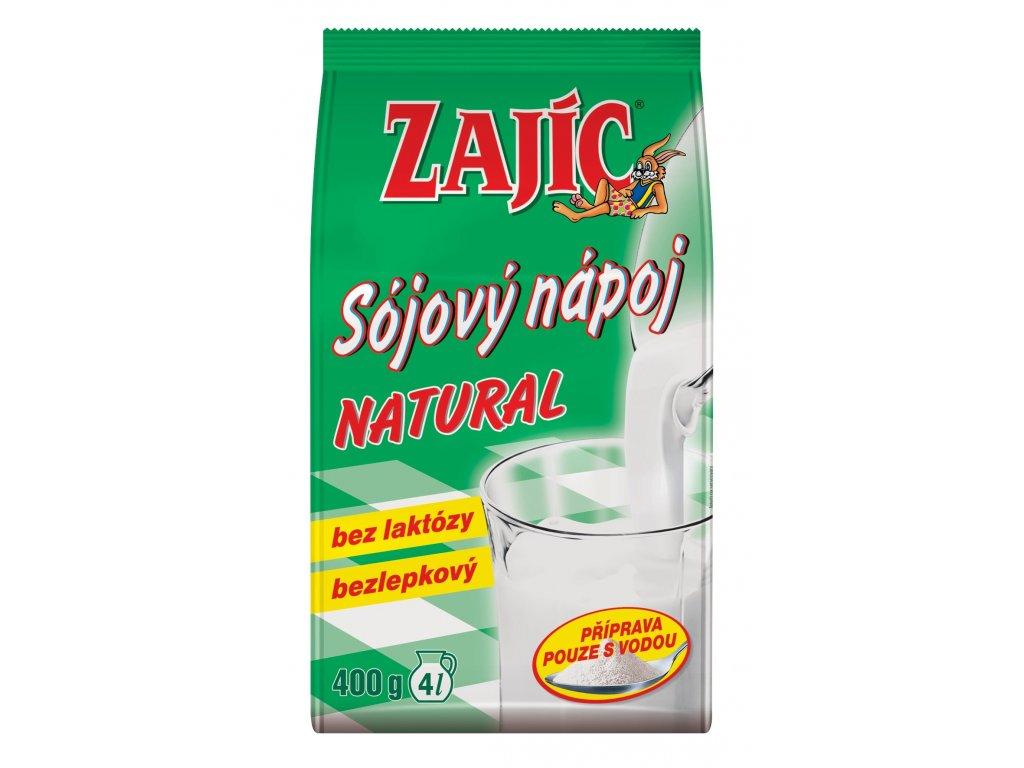 Zajíc Sojový nápoj Natur sáček bezl. 400 g MOGADOR