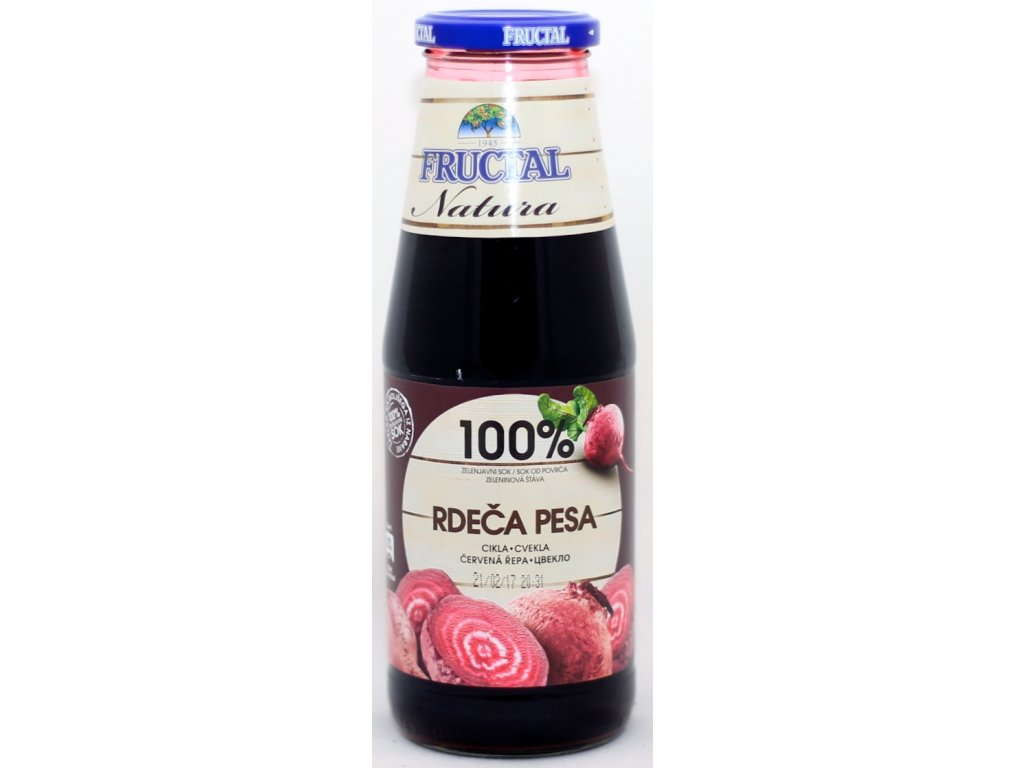 Šťáva z červené řepy 100% 0,7 l FRUCTAL