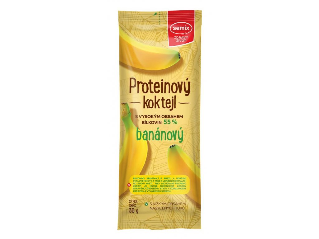 Koktejl Protein banánový 30 g SEMIX